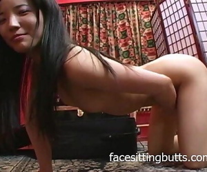 What a horny lil\' Asian fuck..