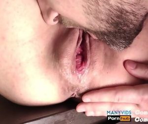 After Cum shot Licked her..
