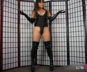 ASIAN Dominatrix Wank OFF..